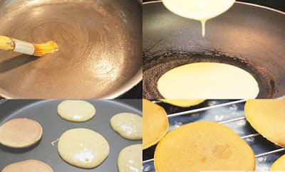 Các bước rán bánh với chảo không dính