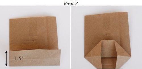 Cách làm túi đựng quà bằng giấy đơn giản - Gấy đáy túi quà
