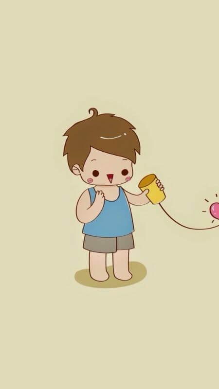 Hình nền ngộ nghĩnh cho điện thoại bạn nam