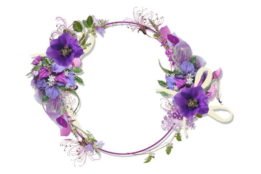 Phông hình đẹp, cute dạng tròn màu tím