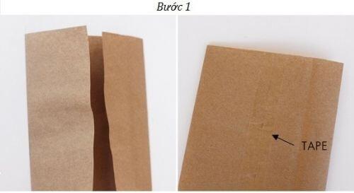Làm túi đựng quà bằng giấy Kraft
