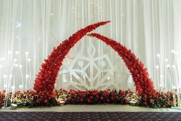 Thiết kế background chụp hình trong lễ cưới